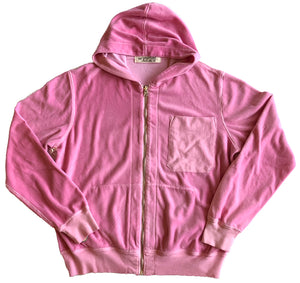 Latimer Zip Hoodie - Pink Velour,, The Uplifters- Woo
