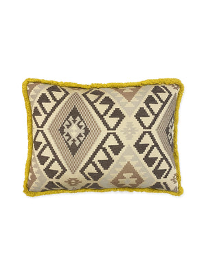 Vintage Brown Print Pillow