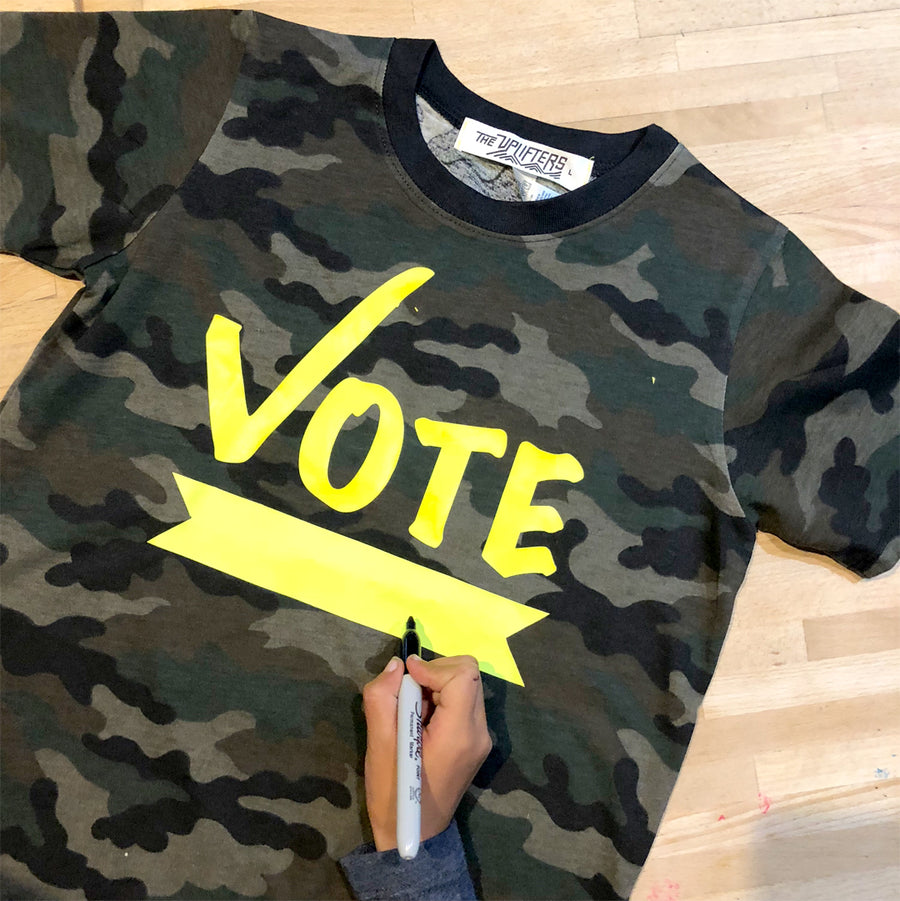 VOTE (fill in the blank) Camo tee