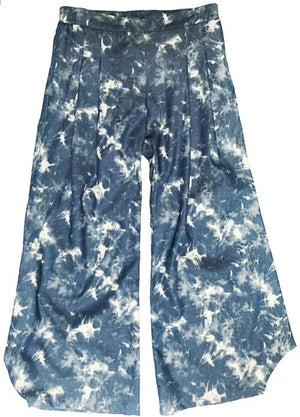 Fan Pant - chambray splatter,pant, Woo- Woo