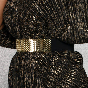 Metal Scallop Belt - Gold