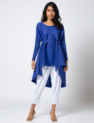 Lucy Hi-Low Belted Tunic - Royal Blue