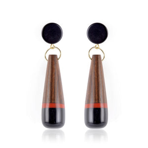 Lorna Wood Earrings - Red