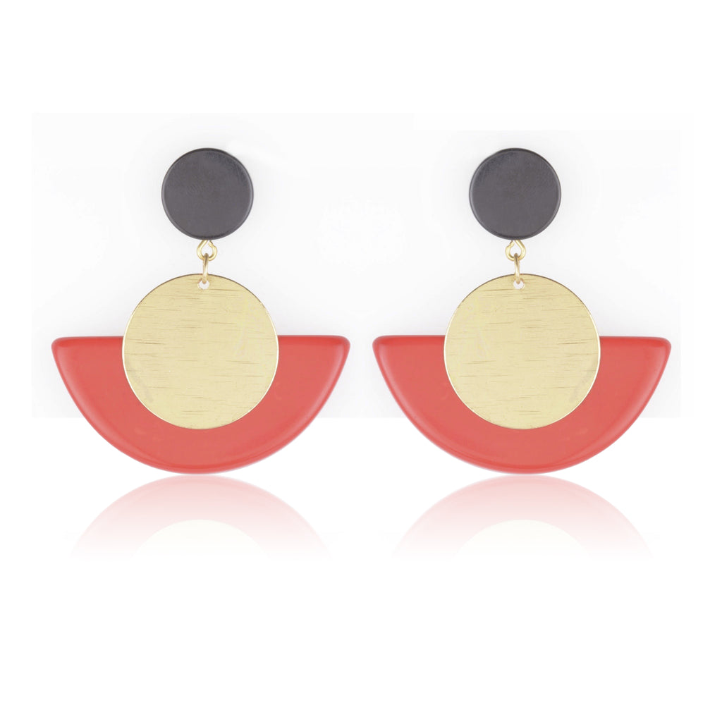 Joyce Earrings - Red