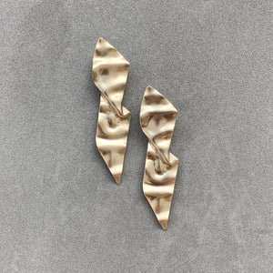 Spear Earrings - Champagne Gold
