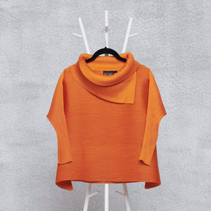 3/4th Sleeve Turtle Neck - Orange