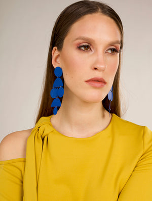 Iconic Art deco Earrings - Cobalt Blue
