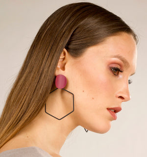 Raven Earrings - Plum