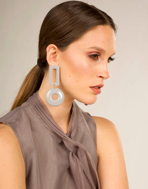 Shay Earrings - Grey