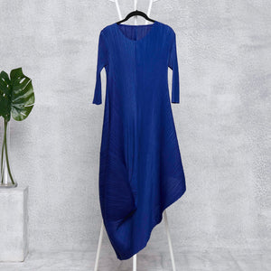 Laila Drape Dress - Deep Blue