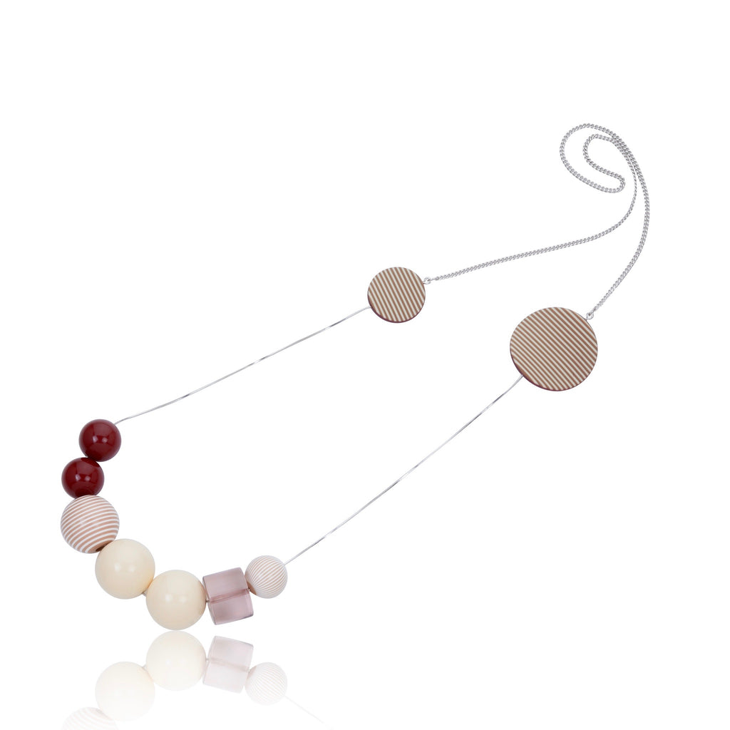 Eclettico Necklace - Maroon & Ivory