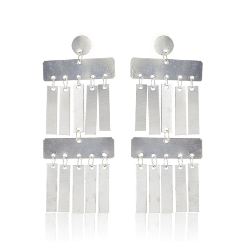 Rainfall Earings - Silver