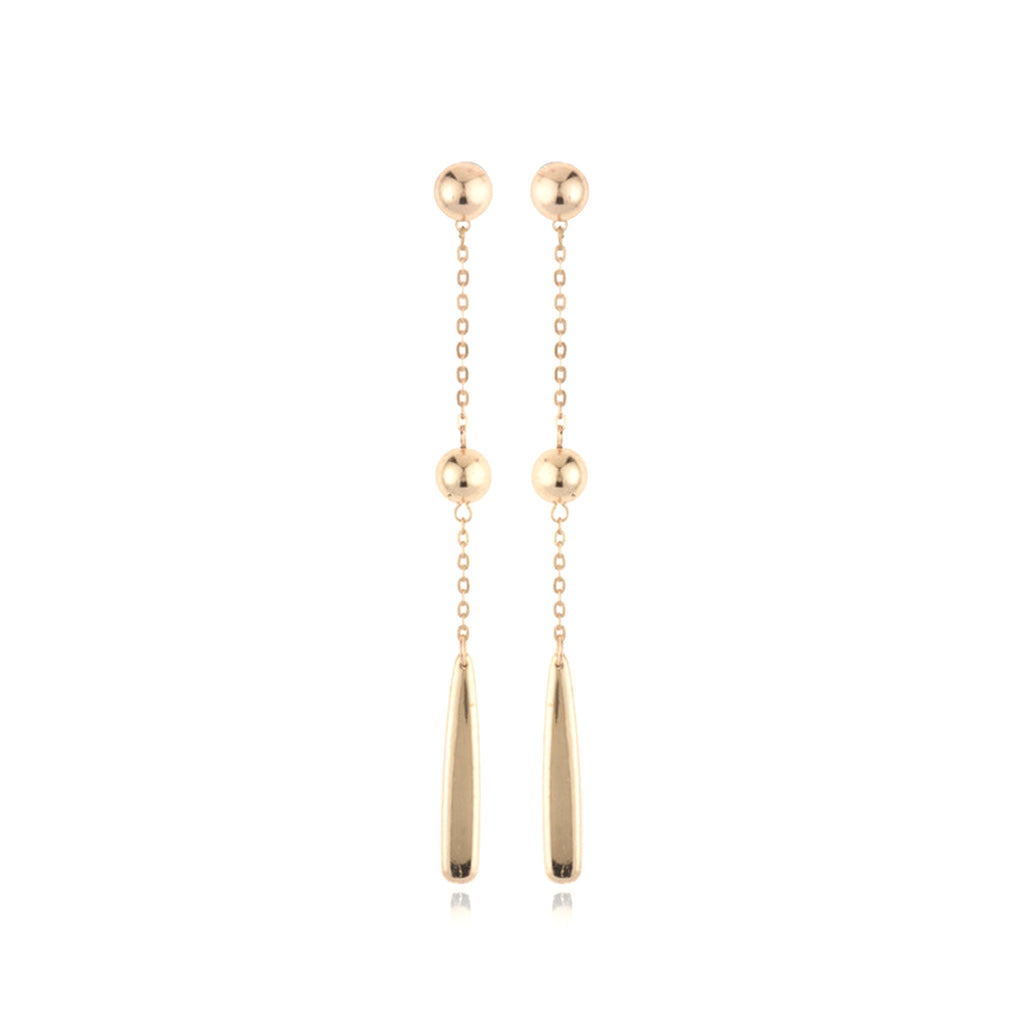 Sterling Drop Earrings - Rose Gold