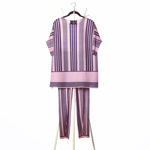 Co-ord Stripe Set - Pink & Purple
