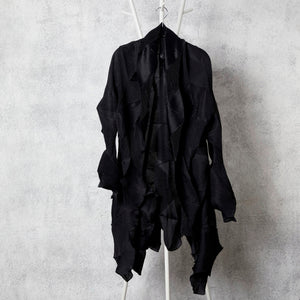 3Dimensional Pleated Overlays - Black