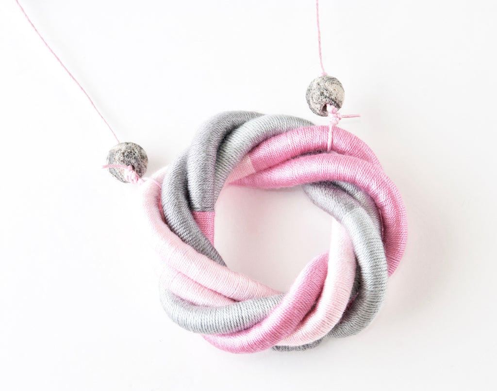 Twists & Turns Necklace - Pink