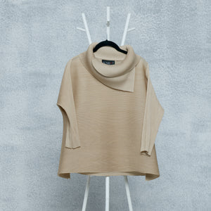 3/4th Sleeve Turtle Neck - Cream