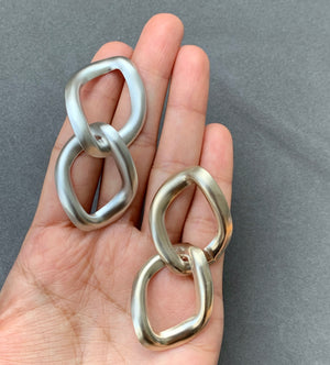 Everyday Chain Link Earrings - Silver