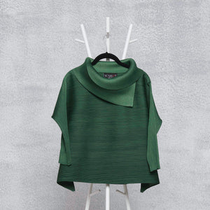 3/4th Sleeve Turtle Neck - Forest Green