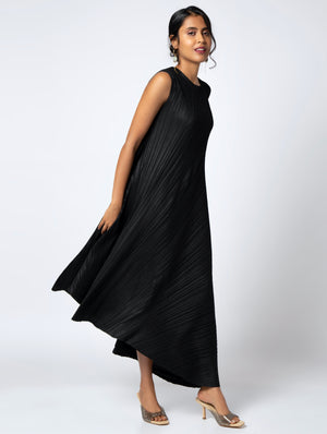 Evelyn Asymmetrical Dress - Black