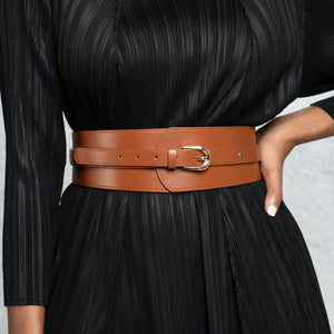 Single Buckle Belt - Camel