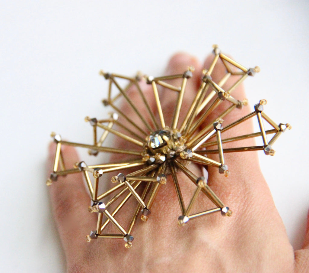 Efflorescence Statement Ring - Gold
