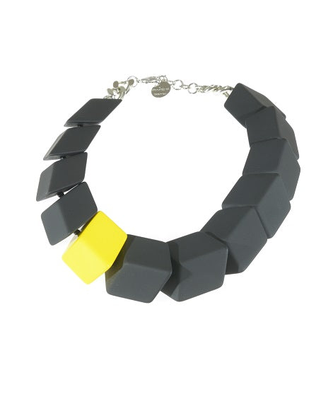 Collana Geometro - Black & Lime