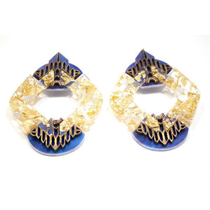 Aida Earrings - Blue Gold