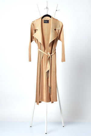 Caroline Wrap Overlay/Dress - Champagne