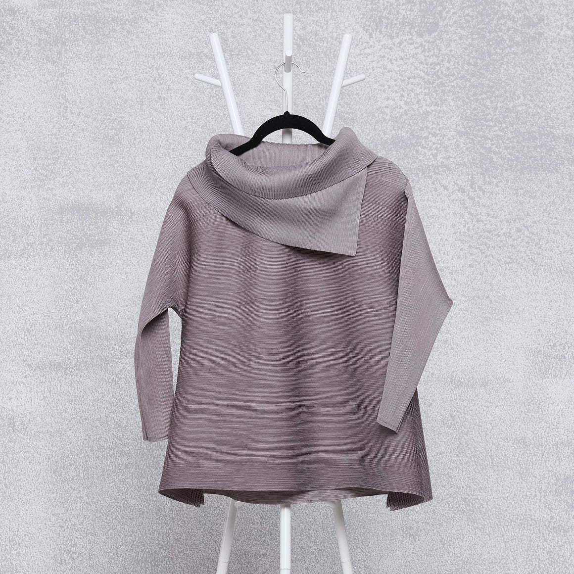 3/4th Sleeve Turtle Neck - Grey