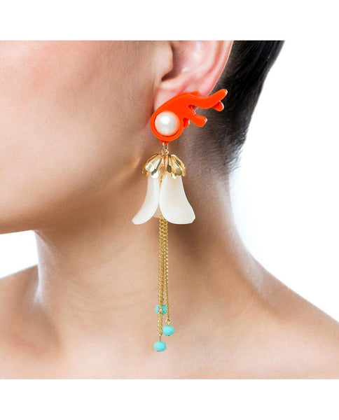 Princess Coral Earrings - Ivory