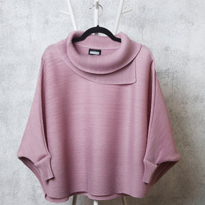 The Batwing Turtle Neck - Onion Pink