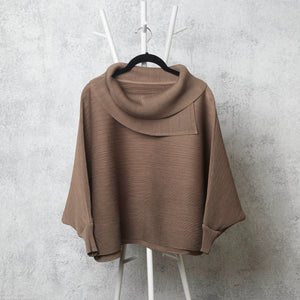 The Batwing Turtle Neck - Taupe