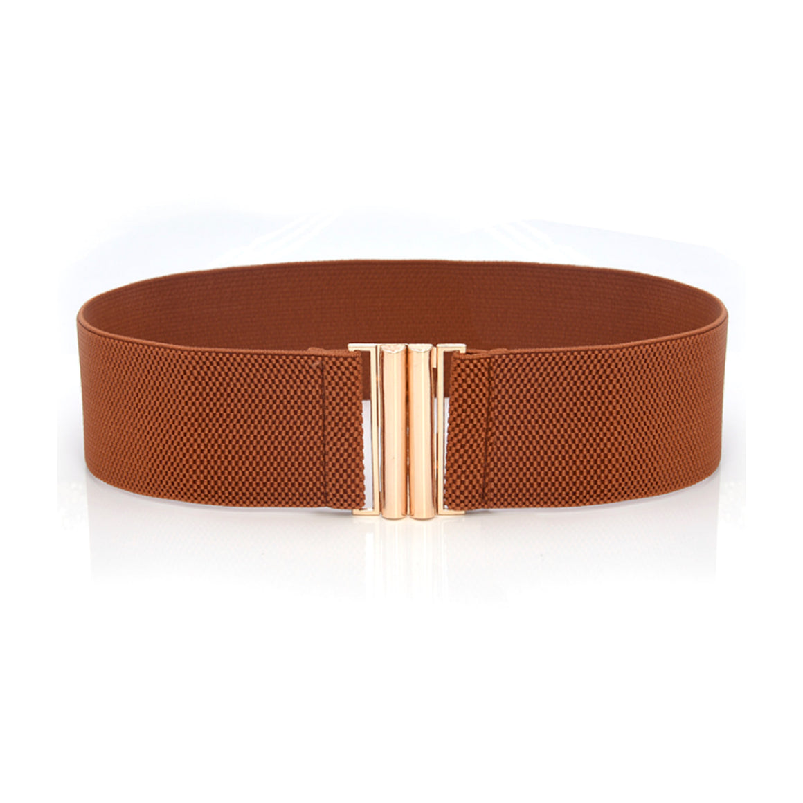 Basic Clasp Elastic Belt - Brown