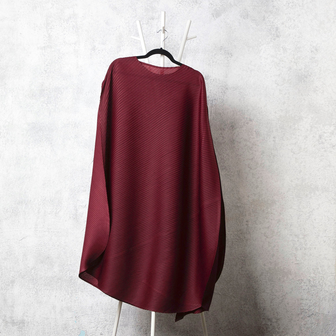 Cape Style, Bias Drape Dress - Maroon