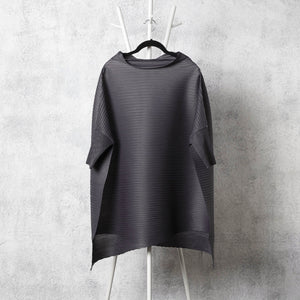 Cape Boat Neck Top - Grey