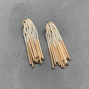 Pearled Tassel Earrings