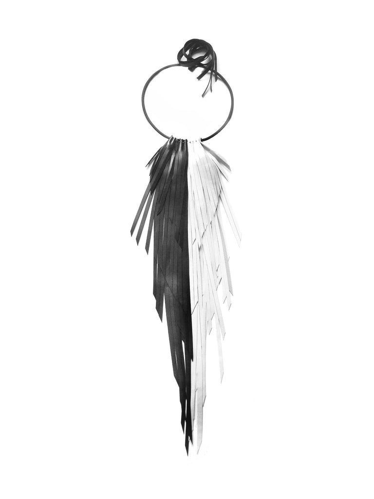 The King Crow Necklace - Black & White
