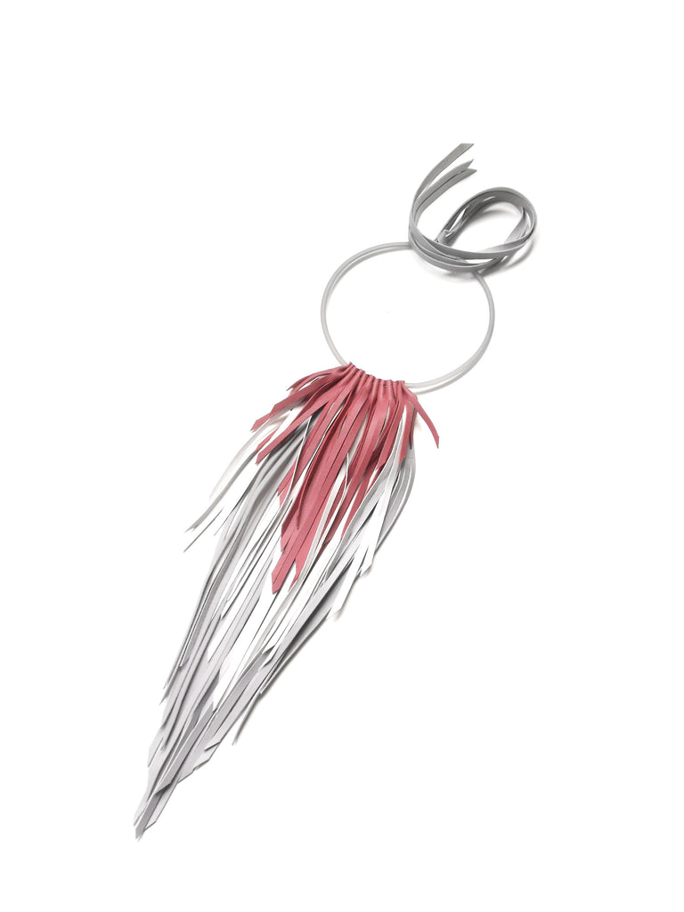 The Crow Necklace Medium - Red, Grey & White