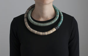 Ombre Green Minimalistic Necklace