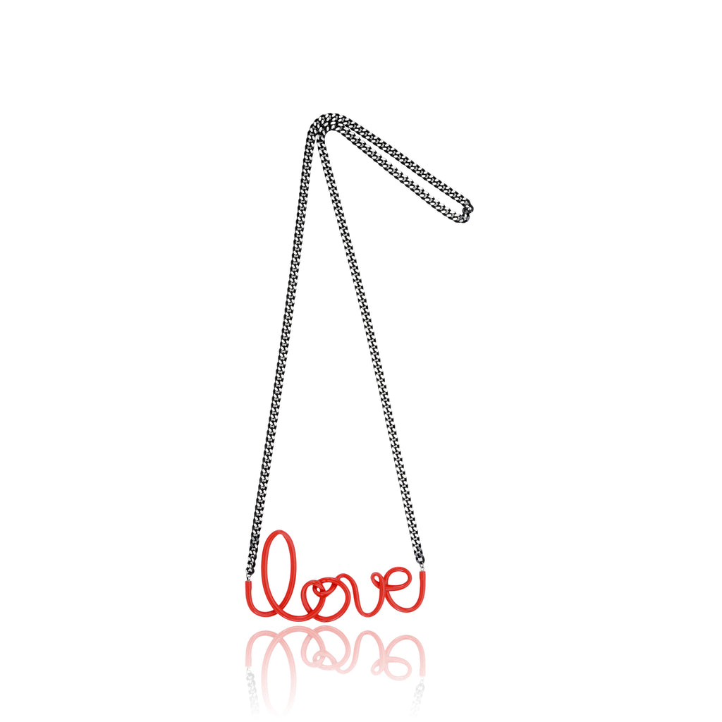 Love Necklace Long - Red