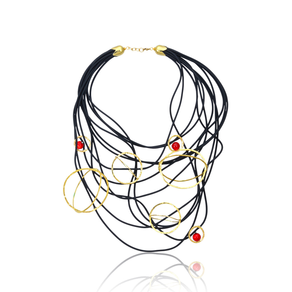 The Galaxy Statement Necklace - Red