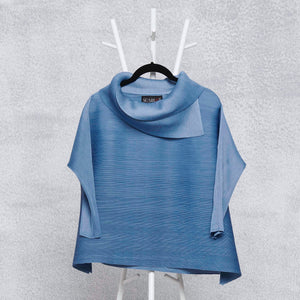 3/4th Sleeve Turtle Neck - Sky Blue