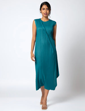 Calliope Drape Dress - Turquoise
