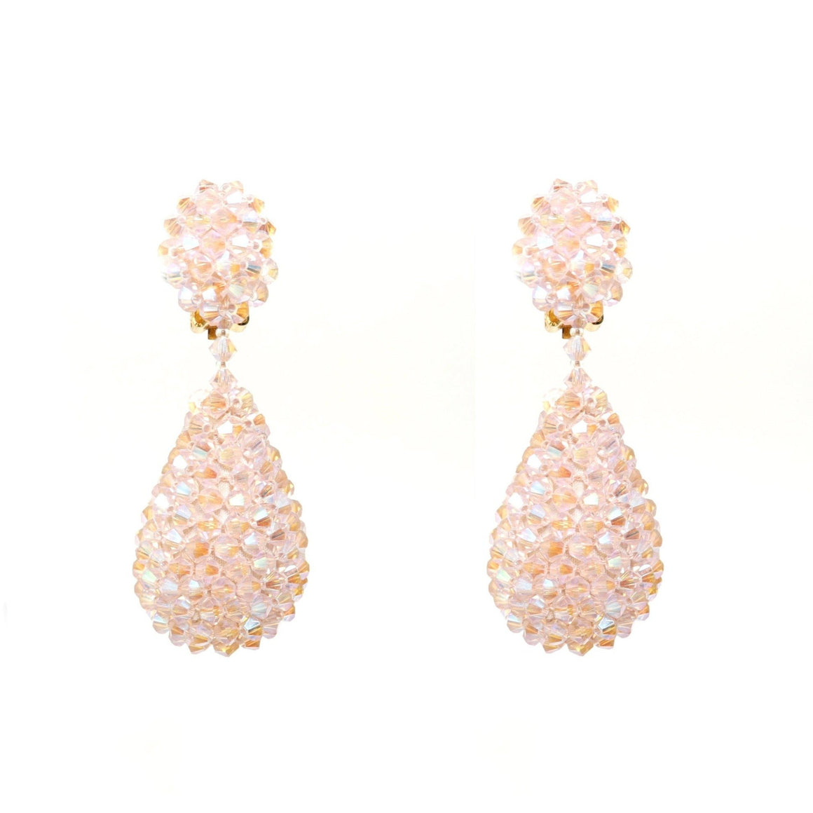 Alexis Drop Earrings - Frosty Pink