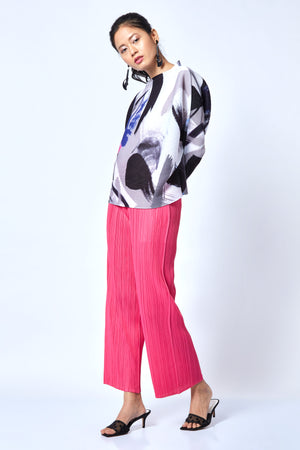 Diane Straight Pants - Hot Pink