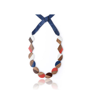 Georgia Necklace Red & Navy