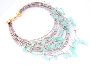 The Floral Dispersion Necklace - Aqua