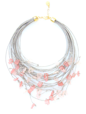 The Floral Dispersion Necklace - Pink