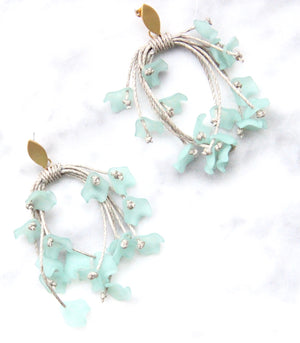 The Floral Dispersion Earrings - Aqua